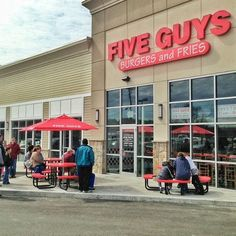 Five Guys. Minnesota is where I experienced this restaurant.