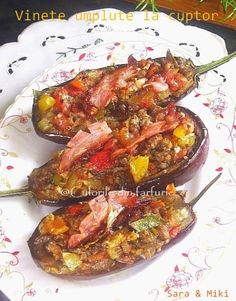 » Vinete umplute la cuptorCulorile din Farfurie Appetizer Recipes, Appetizers, Romanian Food, Romanian Recipes, Ratatouille, Bruschetta, Eggplant, Shrimp, Cooking