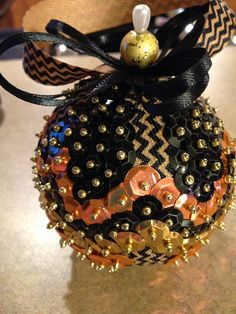 Handmade sequin ornament on Etsy, $16.00