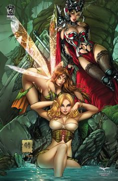 FN+ Through the Looking Glass #2 Wonderland 2A cover Grimm Fairy Tales