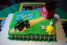 Farm Cake - Farm scene birthday cake.