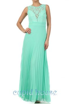 Mint Lace Prom Dress/Cheap Coral Prom Dress/Long by CupidHouse, $89.00