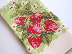 Vintage Strawberry Kitchen Towel