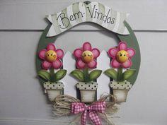 guirlandas gd flores felizes | Artesanatos Ingrid Carvalho | 16E322 - Elo7
