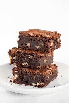 Gluten Free Brownies - even if you aren't on a gluten free diet I would highly recommend these brownies! They're like eating chocolate truffles! They melt away in your mouth.