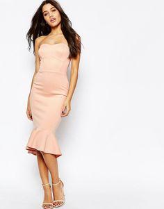ASOS+Pephem+Bandeau+Midi+Dress