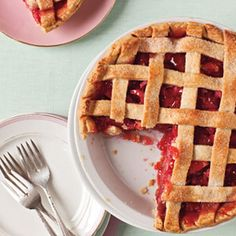 Lattice Strawberry-Rhubarb Pie and other Strawberry-Rhubarb recipes