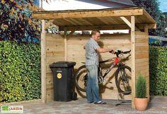 Great for anything needing cover! Garage Velo, Pergola Swing, Pergola Ideas, Bike Shed, Backyard, Patio, Shed Storage, Play Houses, Bbq