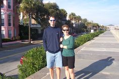 My husband and I walking the battery prominade where Thad and Emily walked. It hasn't changed all that much. Historical Romance, Historical Fiction, Ella Woods, Independent Women, Book Nooks, Walking, Husband, People, Walks