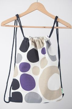 Backpack laptop purse ORGANIC handmade for by LaIndustriaDeMayka, €14.95