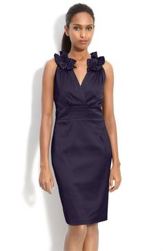 She liked this one too...  Donna Ricco Pleat Trim Mock Two-Piece Sheath Dress (Petite) available at #Nordstrom