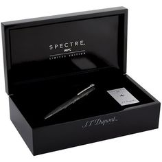 S.T. Dupont James Bond Spectre Ballpoint Pen ($1,345) ❤ liked on Polyvore featuring home, home decor, office accessories, embossing pen, s.t. dupont, engraved pens and writing pens
