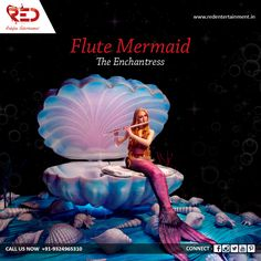 Enchant your guests at events and weddings with our mesmerizing Flute Mermaid act!   For more such enchanting acts, visit us at: http://www.redentertainment.in/in-house-act.aspx
