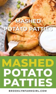 These delicious, savory Mashed Potato Patties are crispy on the outside and soft and creamy on the inside. They're the best way to use up your leftover mashed potatoes and make for a tasty side dish recipe! #mashedpotatoes #leftovers #thanksgivingleftovers #easyrecipe #dinner