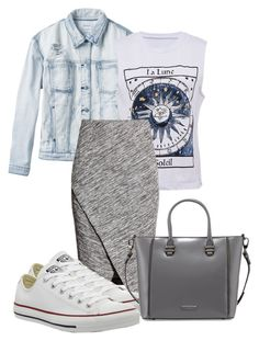 """Bez naslova #3478"" by ramayanna ❤ liked on Polyvore featuring RVCA, H&M, Converse and Charles Jourdan"