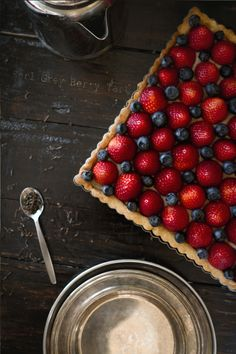 Blueberry and Strawberry Tart from The Greedy Gourmand
