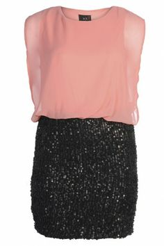 Contrast Sequin Dress - cute little party dress for cury girls!