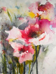 Summer Poppies IV, Karin Johannesson