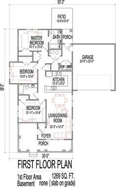Handicap Accessible Small House Floor Plans 3 Bedroom 1000 SF House Plan  Los Angeles San Francisco