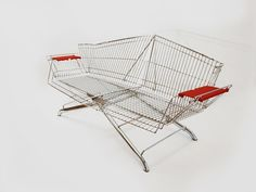 Designer Etienne Reijnders saves shopping carts from the furnace, and turns them into furniture.
