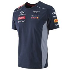 Official Red Bull 2013 Merchandise for the 2013 Formula 1 season.  Size guide is as follows:  Small 36-38 Medium 38-40 Large 40-42 XL 42-44 XXL 44-46  This Infiniti Red Bull Racing 2013 T-Shirt is part of the official 2013 Infiniti Red Bull Racing team collection, which has been designed for fans of the three time world Constructors champions in Formula 1.  Complete with printed logos and team sponors of the Infiniti RedBull Racing Team.