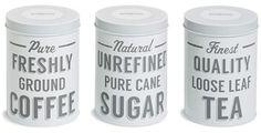 Coffee, Tea & Sugar Tins (Set of 3) #holidaygiftguide #2015