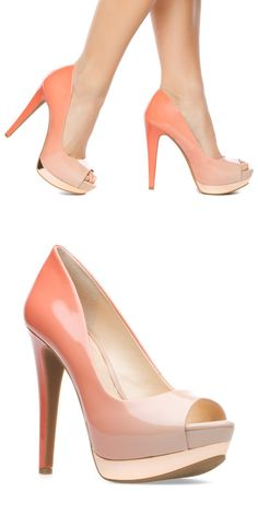 Ombre sunset heels #fashion