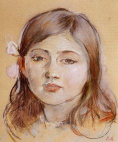 Berthe Morisot - 1889 Portrait of Julie pastel