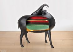 Claude & François-Xavier Lalanne Exhibition to Feature Flora and Fauna Furnishings | Mouflon de Pauline, in patinated bronze, leather, wood, brass, and paint