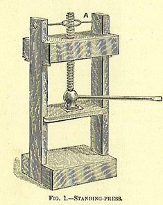standing book press