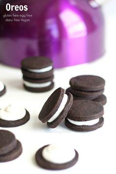 Oreos (gluten free Vegan dairy free) Enjoy a classic chocolate sandwich cookie without gluten!