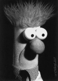 Dramatic portrait of The Muppet Show's own Beaker