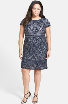 Adrianna Papell Beaded Sheath Dress (Plus Size) available at #Nordstrom