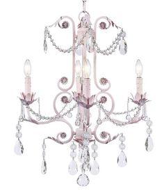 pink 4 arm valentino chandelier