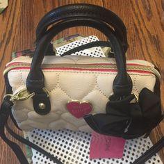 Betsy Johnson mini satchel Be Mine bone/black NEW Crossbody or handbag very versatile Betsey Johnson Bags Crossbody Bags