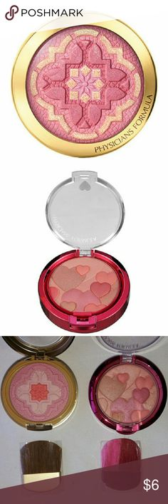 BUNDLE OF 2 PHYSICIANS FORMULA BLUSHES 1 Argan Wear Blush in Natural & 1 Happy Booster Blush in Natural. Used very little, so plenty of product left. Physicians Formula Makeup Blush