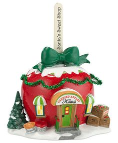 Department 56 Collectible Figurine, North Pole Village Katie's Candied Apples