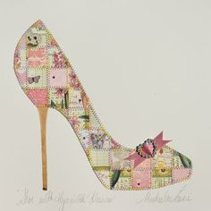 """TQS Quilt of the Day on September 30: """"Shoe with Hyacyth Blossom"""" -- Such a fun quilt!"""
