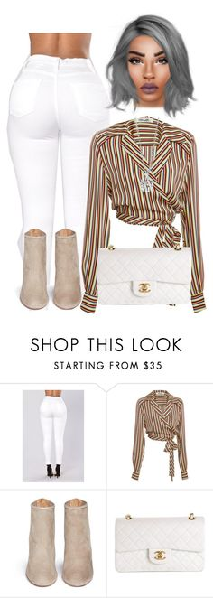 """Untitled #61"" by jahnaetakeoveer ❤ liked on Polyvore featuring Diane Von Furstenberg, Aquazzura and Chanel"
