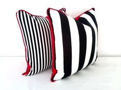 Black and White #Cushions are timeless and elegant!  As seen on our Pinterest Boards Black and White #Interiors and Cushions! Cushions! Cushions!