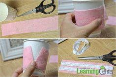 cut felt and lace trims
