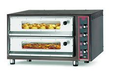 8-PIZZA-CB 4TVI Forno pizza elettrico (4 termostati) con refrattario in pietra lavica, sportelli con vetro e illuminazione interna. www.cb-italy.com