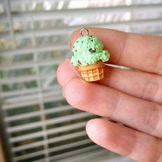 Hey, I found this really awesome Etsy listing at https://www.etsy.com/listing/220622797/mint-chocolate-chip-ice-cream-cone
