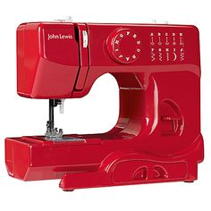Buy John Lewis Mini Sewing Machine, Red online at JohnLewis.com - John Lewis