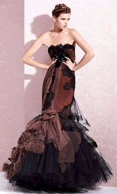 Yolan Cris S/S 2013.She should be wearing opals with this gown!!!
