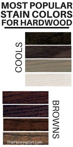 Most popular stain colors for hardwood floors. #stain #colors #hardwood #floors #flooring #homedecor