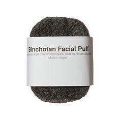 Terrain Binchotan Facial Puff: exfoliates and restores natural pH level