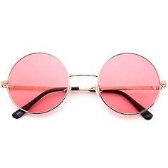 John Lennon Pink Style Vintage Retro Classic Circle Round Sunglasses Men Women