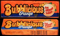 Bubblicious - Orange - bubble gum pack - late 1980's early 1990's | Flickr - Photo Sharing!