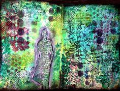 skorpionens rede: Art Journal page - DT Art Anthology